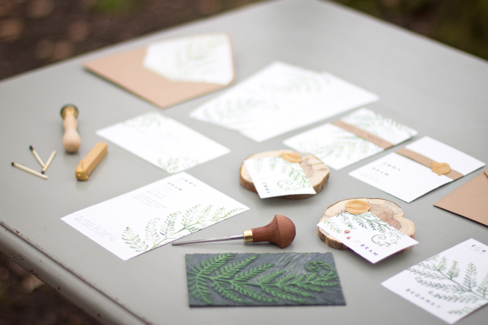 handmade wedding stationary Anne-Lieke