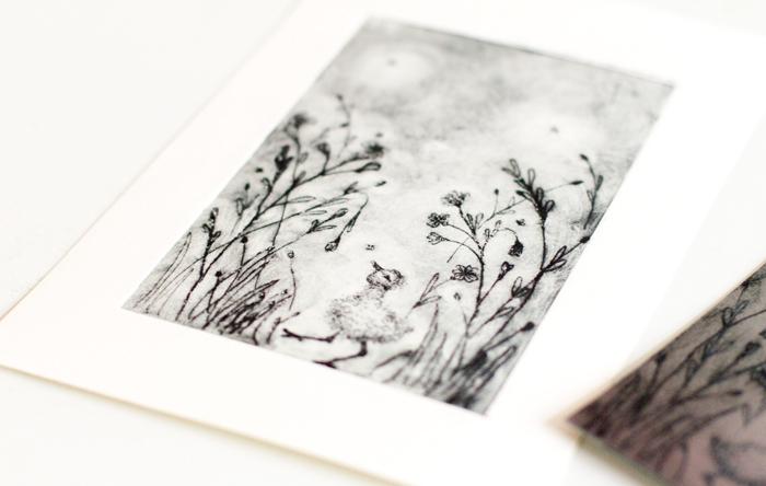 Cursus Teekenschool - Print vogel kuiken in gras