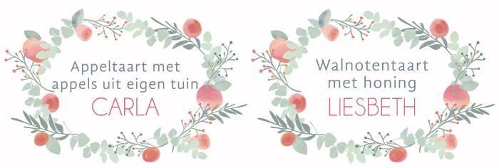 wedding pie cards