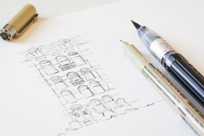 Tekening eigen huis illustratie