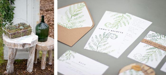 Bruiloft geloftes drukwerk