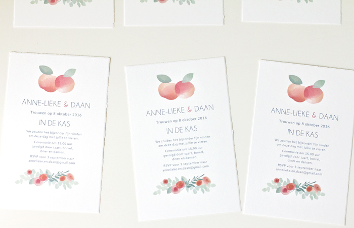 uitnodiging herfst bruiloft