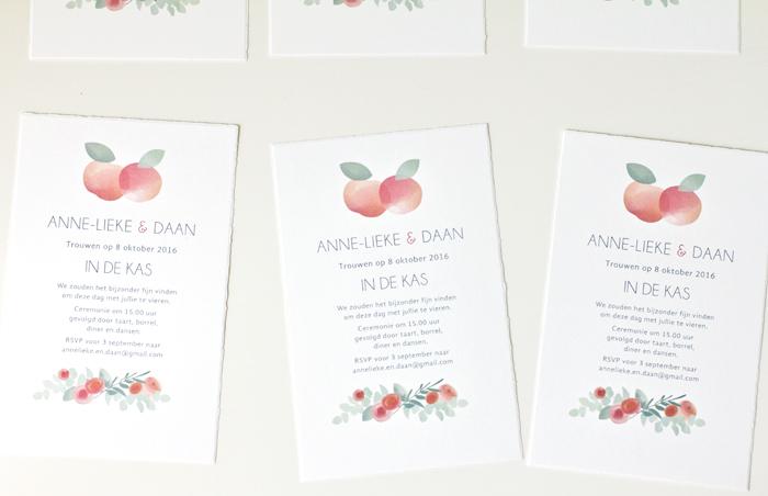 wedding invitations orchard theme